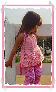 Looking for super cute little girl top idea? Check out Apron Halter Top by Annastasia Cruz, an adorable crochet free pattern. Sizes: 2 to 6 years.