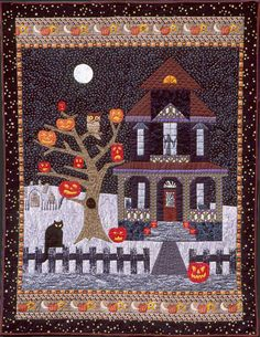 We all need halloween quilts at our place. Halloween Quilts, Halloween Quilt Patterns, Halloween Sewing, Fall Sewing, Halloween Haunted Houses, Halloween Projects, Fall Halloween, Halloween Prop, Halloween Witches