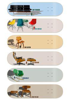 Girl Skateboards: Modern Chair Series - David Galletly: Art, Illustration & Design