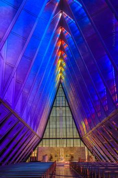 This is absolutely beautiful on the inside (AIR FORCE ACADEMY CADET CHAPEL, AMERICA)