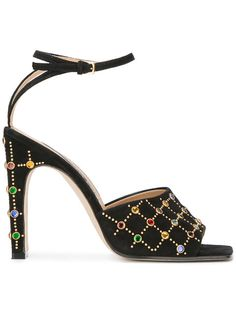SERGIO ROSSI embellished sandals. #sergiorossi #shoes #sandals