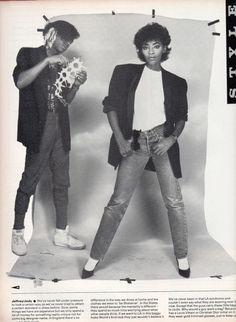 Jody Watley & Jeffrey Daniel, The Face Magazine 1983