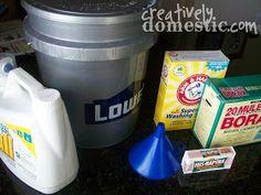 Creatively Domestic: Homemade Liquid Laundry Soap