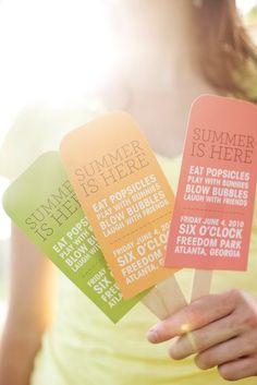 pretty summer popsicle invitations