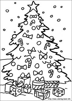 Christmas Coloring Book Pages On