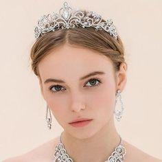 Wedding Tiaras and Crowns Bridal Party Crystal Tiara Headband Prince Crown Hair…