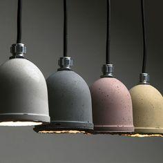 Lámpara Colgante Mole - Comprar en Kikely Concrete Furniture, Concrete Lamp, Concrete Design, Concert Lights, Beton Diy, Concrete Crafts, Diy Home Crafts, Hanging Lights, Lamp Light