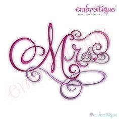 Mrs. Calligraphy Script - 12 Sizes!   Mini Designs   Machine Embroidery Designs   SWAKembroidery.com Embroitique