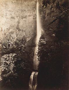 Carleton Watkins-Multnomah Falls Cascade, Columbia River, 1867