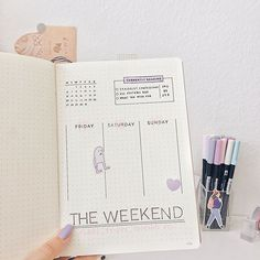 #bujojunkie hashtag on Instagram • Photos and Videos Friday Saturday Sunday, Journal Pages, Journal Ideas, Bullet Journal, Photo And Video, Stationary, Instagram, Videos, Photos