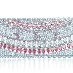 Tiffany bracelet of pink and white diamonds in platinum, from the 2013 Blue Book Collection.