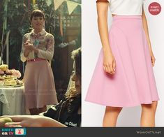 Alison's pink skirt on Orphan Black.  Outfit Details: http://wornontv.net/48104/ #OrphanBlack