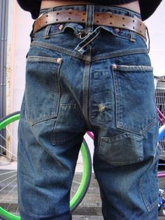 Drop crotch and cinch back Denim Boots, Denim Outfit, Jeans And Boots, Jeans Pants, Denim Jeans, Estilo Folk, Repair Jeans, Best Leather Jackets, Tactical Clothing
