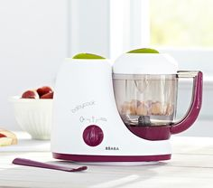 Béaba Babycook Baby Food Maker   Pottery Barn Kids.  The baby food maker, storage, and dishes...new mother is all set!