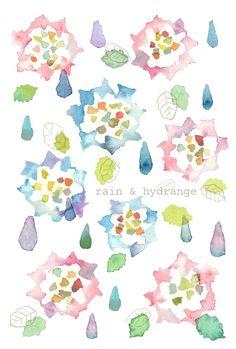 ピンクや青のグラデーションがきれいな紫陽花の花を描きました。 ●エンボス加工の無地のハガキに、インクジェットで印刷しています●3枚セットで300円。他に気に入られたデザインのカードがございましたら、異種3枚セットにしてお送りします。お申し付けください。※画材メーカーKAWACHIさんのペーパーマルチランド・コットンエンボス(ハガキサイズ)というOA用紙を使用しています。普通のハガキよりも若干...