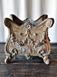 French cast iron Jardiniere saved by C beau Style Cottage, French Country Cottage, French Country Style, French Chic, French Decor, French Country Decorating, French Furniture, Painted Furniture, Antique Furniture