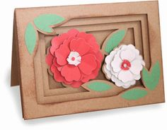 Silhouette Design Store - View Design #76550: spring flowers shadow box folded card