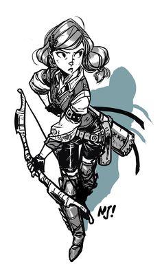 Female Archer by njay