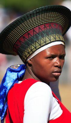 Africa | Portrait of a Zulu woman.  South Africa | ©unknown, via Zulu Culture History