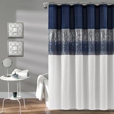 Dainty Home Clara Embroidery Look Fabric Shower Curtain Ivory