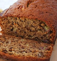 whole wheat banana bread, made with honey instead of sugar!