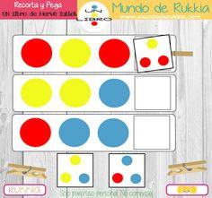 fichas-aprender-colores Herve, Tot School, Learning Activities, Kids Rugs, Preschool, Classroom, Illustration, Crafts, Maths