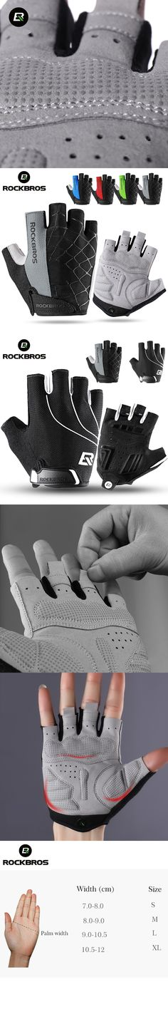 ROCKBROS Sports Gloves Half Finger Summer Cycling Gloves Breathable Shockproof Bike Bicycle Gloves Men Women Cycling Clothings