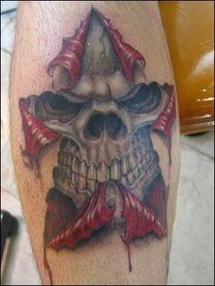 skin rip skull