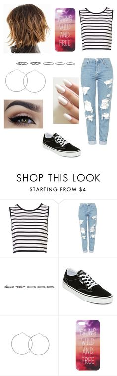 """""""Young and Free"""" by nerdvines ❤ liked on Polyvore featuring Topshop, Pieces and Vans"""