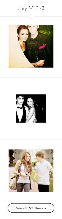 """Jiley *-* :* <3"" by annalena-svea ❤ liked on Polyvore featuring jiley, justin bieber, miley cyrus, miley, celebrities, pictures, couples, celebs, justin and justin & miley"