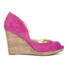 Sole Society 'Kalani' peep toe wedge in fuchsia for casual summer get togethers