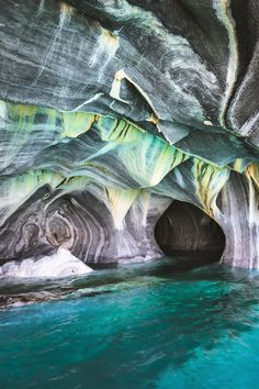 The beautiful Marble Caves along the Carretera Austral highway in southern Chile. Visits our Chile guide for details!