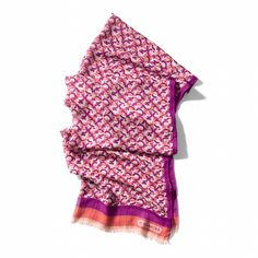 The Coach Mini Chainlink Oblong Scarf: 20% from the purchase of this product will be donated to The Breast Cancer Research Foundation®.
