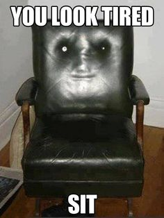 My friend's chair is creepy...