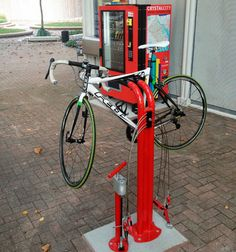 Public Workstand bike repair station by Huntco
