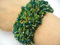 Tutorial Fringe Bracelet Cuff Seed Beads and by ButterflyBeadKits Embroidery Floss Bracelets, Bead Embroidery Jewelry, Beaded Embroidery, Beaded Jewelry, Beading Tutorials, Beading Patterns, Bracelets With Meaning, Embroidery Shop, Bracelet Patterns