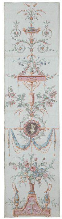 Panneau de Papier Peint Paris 1788 inspired by Italian grotesque www. Marie Antoinette, Of Wallpaper, French Wallpaper, Antique Wallpaper, French Decor, Chinoiserie, Art Decor, Stencils, Decoupage