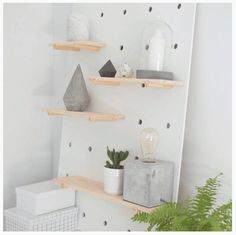 Concrete accessories on Kmart Pegboard - Our Urban Box Small Wood Projects, Diy Furniture Projects, Teen Girl Bedrooms, Teen Bedroom, Bedroom Ideas, Bedroom Artwork, Kmart Home, Minimal Bedroom, Box Shelves