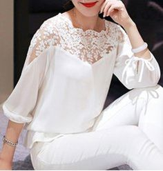 Blouses | White And Cute Blouses For Women Cheap Online At Wholesale Prices | Sammydress.com