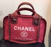 CHANEL bowling bag DEAUVILLE red
