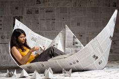 Big paper boat