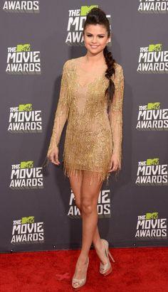 Selena Gomez owned the carpet in a golden Julian McDonald dress.