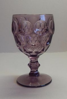 Fostoria Glass Plum Moonstone Goblet