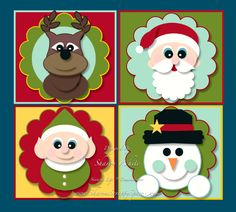 My Digital Studio 2 - Punch Art Christmas Tags - Sharon's Scrappy Space