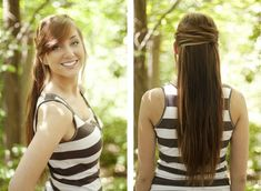 cool way to pin back your hair.