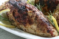 Lemon Rosemary Baked Chicken Breasts