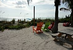 The Mucky Duck - Captiva restaurant on the beach! Enjoyed a drink with visiting Eric Paulson, of Colorado Springs.