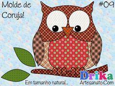 Preparamos para você uma lista especial com os melhores moldes de coruja para artesanato para você baixar gratuitamente e em tamanho natural! Owl Applique, Applique Patterns, Embroidery Applique, Embroidery Designs, Crazy Quilting, Dac Diy, Owl Crochet Patterns, Shape Templates, Crocodile Stitch