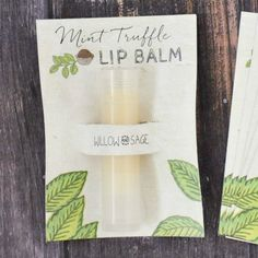 Mint Truffle Lip Balm Recipe with Printable - Create a scrumptious lip balm with yummy mint truffle flavor. Then, download the free printable to create a beautiful label/holder for sharing and gifting to friends.