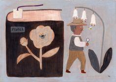 Makoto Maruyama Illustration Japan Illustration, Illustration Blume, Graphic Design Illustration, Botanical Illustration, Art Sketches, Art Drawings, Ex Libris, Nostalgic Art, Illustrations Posters